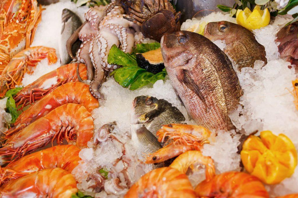 tengergyümölcsei és halak